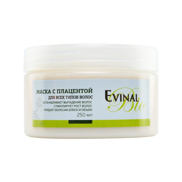 """Питательная маска для роста волос Evinal Bio с экстрактом плаценты, 250мл """"Evinal""""."""