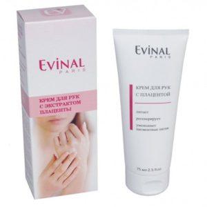 """Крем для рук с экстрактом плаценты, 75мл """"Evinal""""."""