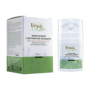 """Крем ночной Evinal Bio с экстрактом плаценты, 50мл """"Evinal""""."""