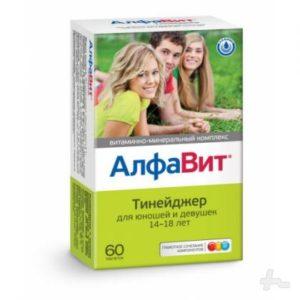 Алфавит Тинейджер таблетки №60 витаминно-минеральный комплекс