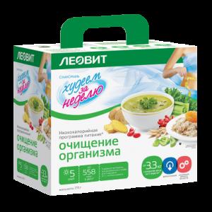 """""""Худеем за неделю"""" Комплекс очищение организма """"Леовит""""."""
