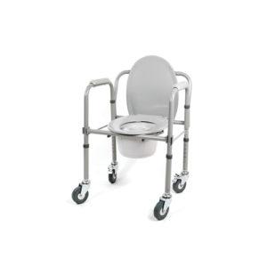 "Кресло-туалет 10581Са (h44-57) складное на колесах ""Симс""."
