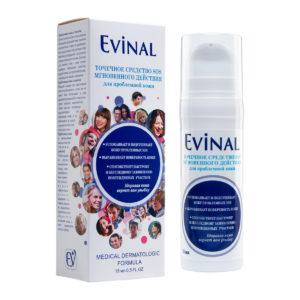 """Точечное средство SOS мгновенного действия для проблемной кожи, 15мл """"Evinal""""."""
