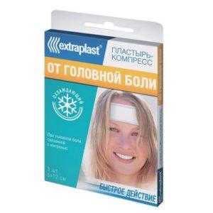Экстрапласт пластырь при головной боли (5х12) 3 шт.