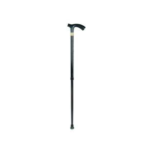 """Трость 10127/BL (черная) телескопическая, эргономичная пластиковая ручка """"Симс""""."""