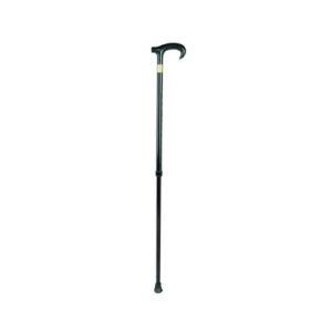 """Трость 10124/BL (черная) телескопическая, эргономичная пластиковая ручка """"Симс""""."""