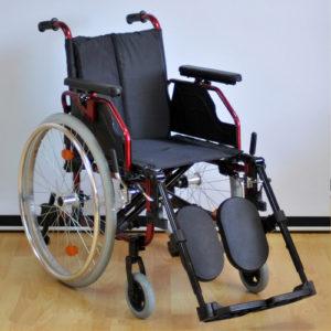 """Кресло-коляска ивалидная алюминий FS 205LHQ (41см) полиуретановые колеса """"Мега-Оптим""""."""