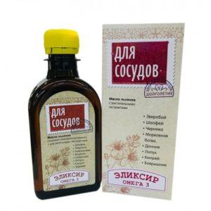 """Масло льняное """"Для сосудов"""" 200мл """"Компас здоровья""""."""