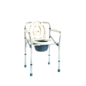 "Кресло-туалет FS 696 (h45-55) складной, на колесах ""Мега-Оптим""."