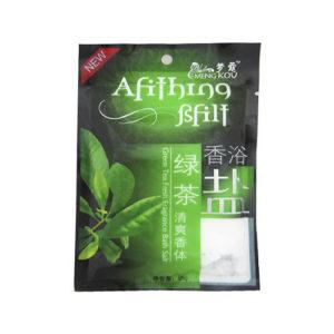 """Соль для тела SPA """"Зеленый чай""""."""