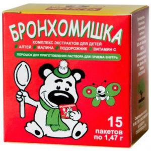 Бронхомишка микстура от кашля детская сухая 1,47г №15