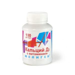 "Кальций Д3 таблетки с витаминами №100 ""Мелиген""."