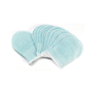 Рукавицы для мытья Abena, пропитанные PH нейтральным мылом Dispobano Glove 25х17 см, 20 шт.