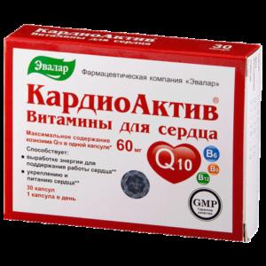 "КардиоАктив витамины для сердца №30 ""Эвалар""."